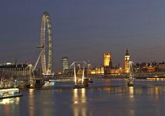 ロンドンの夜景を堪能