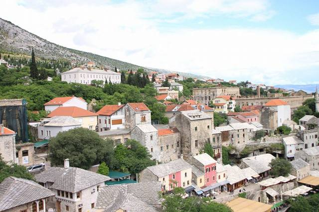 モスタルの町並み