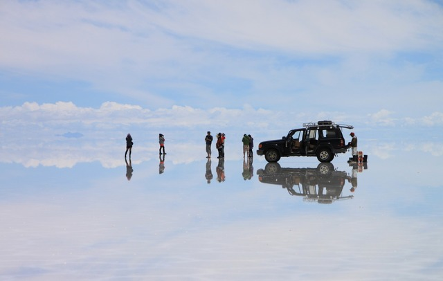 鏡張りの世界 ウユニ塩湖