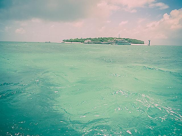 グラスボトムボートから見たグリーン島