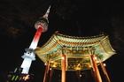 Nソウルタワー夜景観賞と東大門ナイトマーケット散策