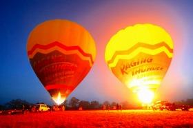 熱気球 サンダーバルーニング 記念写真無料<朝食付きでお得!>
