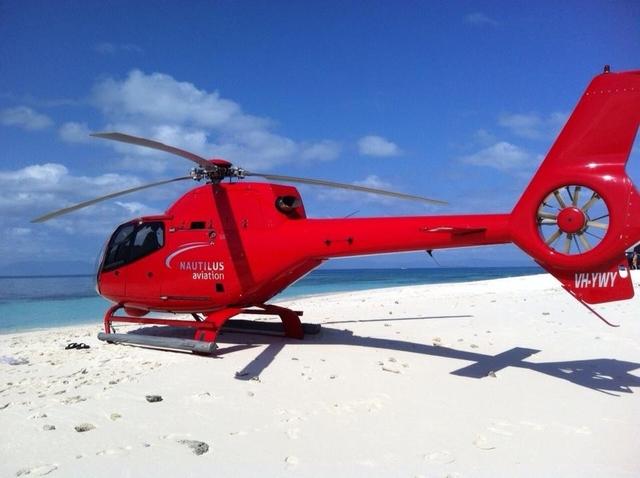 ファンタジーフライト ヘリコプターで行く砂の島