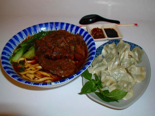 牛肉麺、B級グルメの夕食