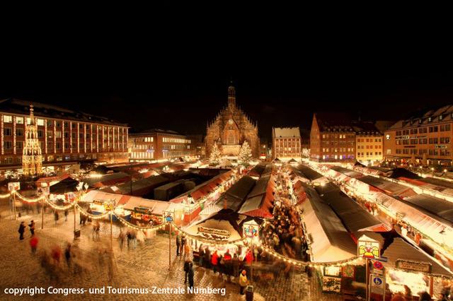フランクフルト発ニュールンベルクとローテンブルクのクリスマスマーケット