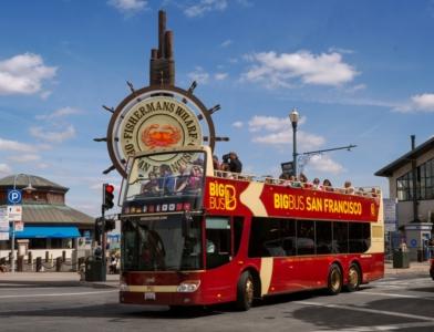 ビッグバスツアーズサンフランシスコ 24時間乗り降り自由市内観光バス乗車券 日本語オーディオ解説付き