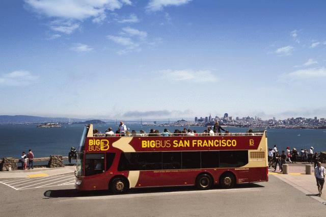 ビッグバスツアーズサンフランシスコ 48時間乗り降り自由市内観光バス乗車券 日本語オーディオ解説付き