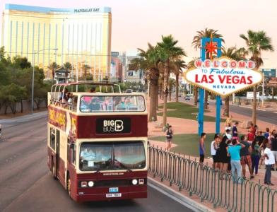 ビッグバスツアーズラスベガス 24時間乗り降り自由市内観光バス乗車券