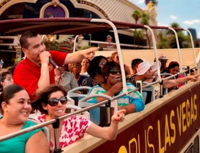 ビッグバスツアーズラスベガス 48時間乗り降り自由バス乗車券&パノラマナイトツアー コンボチケット