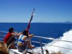 クルーズ船からポートダグラスを眺める