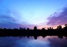 夜が明け、青からオレンジに色が変わり始めた!
