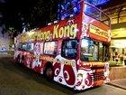 パンダが目印の夜でも目立つバス!