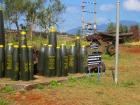 DMZ(非武装地帯)で見られる爆弾など