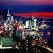 香港島側のビル群の夜景