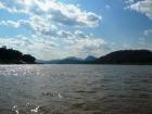 のどかな風景を見ながらのメコン川クルーズ