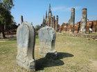 王の遺骨を納めた3本の仏塔を含むワットプラシーサンペット