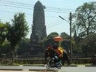 アユタヤ王朝の遺跡と象、タイらしい1ショット