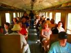 列車内の様子(指定席です)