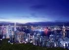 ビクトリアピークからの香港の夜景