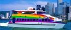 虹色のフェリーに乗って香港観光!