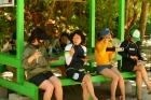 パラオの無人島ビーチでの昼食