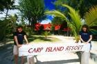 カープ島へ上陸
