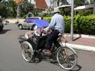 シクロは三輪自転車タクシーです