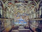 ミケランジェロのフラスコ画が美しいシスティーナ礼拝堂