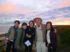 ノビース岬でジョンさんと記念撮影
