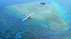 浅い海から深みへと変わる蒼のグラデーションが素晴らしい