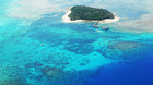 熱帯雨林に覆われた、世界遺産のグリーン島
