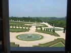 ヴェルサイユ宮殿 2階からの庭園の眺め