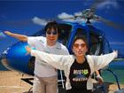 空からグレートバリアリーフを見るためにヘリに乗るよ!
