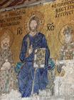 アヤソフィア モザイク画「キリストと皇帝コンスタンティノス9世・ゾエ夫妻」