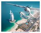 水上飛行機からドバイの街を見下ろす