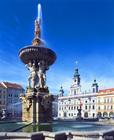 チェスケー・ブディェヨヴィツェ中央広場の噴水