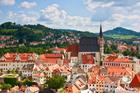 ルネサンス様式の建築が残されているチェコの小さな街