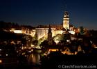 チェスキー・クルムロフは夜の街並みも美しい
