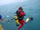 ジャイアントスライドエントリーで海へ