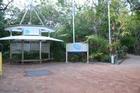グリーン島入口の東屋。地図もありますよ