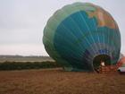 膨らみ始めた気球