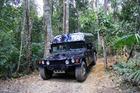 熱帯雨林の森を颯爽と駆け抜ける!