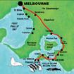 メルボルンからフィリップ島までのツアールート