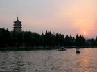 西湖の夕焼け*写真はイメージです