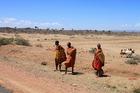 マサイ族の生活を垣間見る