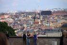 ぺトシーン展望台からのプラハの景色