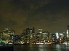 ダウンタウンの摩天楼のパノラマ夜景