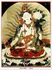雍和宮の随所にチベットの神々が描かれている