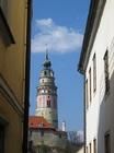 チェスキー・クルムロフ城の塔