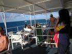 ダイビング後に海を眺めてリラックス、至福の時ですね